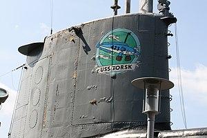 USS Torsk - Sail and boat's mascot emblem