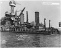 USS West Virginia 5-5-42, Long patch, port side, aft view, (FCF) - NARA - 296912.tif