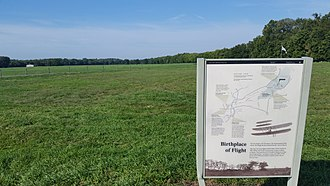 Huffman Prairie - Image: US National Park Service marker for Huffman Prairie Flying Field