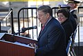 US Navy 061206-N-9195K-031 Former New Hampshire governor and White House Chief of Staff John H. Sununu delivers a speech during the christening ceremony for the newest Lewis and Clark class ship.jpg