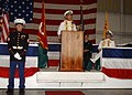 US Navy 070513-N-1810F-059 USS Hue City (CG 66) Commanding officer, Capt. Michael Jacobsen, gives opening remarks during the 39th observance of the Battle of Hue City at Naval Station Mayport.jpg