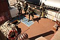 US Navy 070816-N-1328S-004 Sailors from Mobile Security Squadron 3 storm the deck of a transport ship while conducting visit, board, search and seizure training during Seahawk 2007.jpg