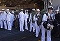 US Navy 070930-N-1739M-098 Sailors walk off the brow aboard nuclear-powered aircraft carrier USS Nimitz (CVN 68).jpg