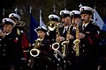 US Navy 071023-N-5549O-211 The United States Navy Ceremonial Band plays the national anthem during a Medal of Honor Flag ceremony recognizing the actions of Navy SEAL Lt. Michael Murphy held at the United States Navy Memorial.jpg