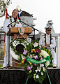 US Navy 071207-N-4965F-024 Adm. Timothy J. Keating, commander, U.S. Pacific Command, delivers his remarks during a joint Oklahoma Memorial Committee-National Park Service dedication ceremony for battleship USS Oklahoma (BB 37).jpg