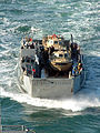 US Navy 080220-N-5180F-019 Landing Craft Unit (LCU) 1661 of Assault Craft Unit (ACU) 2 prepares to come aboard the amphibious assault ship USS Nassau (LHA 4).jpg