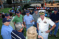 US Navy 091009-N-6220J-005 Rear Adm. Bill Goodwin speaks to Navy veterans who served aboard the Andromeda-class attack cargo ship USS Winston (AKA-94) from 1964 to 1967.jpg