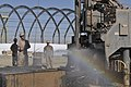 US Navy 091111-N-9584H-099 Seabees assigned to Naval Mobile Construction Battalion (NMCB) 74 operate a new water well at Forward Operating Base Spin Boldak.jpg
