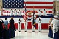 US Navy 100513-N-3436L-001 Color Guard members present the colors during the Naval Air Station Jacksonville change of command ceremony where Capt. Jeffrey Maclay relieved Capt. Jack Scorby Jr. as commanding officer.jpg