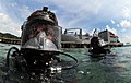US Navy 110818-N-XD935-111 Navy Diver 2nd Class Ryan Arnold, left, assigned to Company 2-3 of Mobile Diving and Salvage Unit (MDSU) 2.jpg
