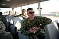 US Navy 111210-N-IG808-090 Master Chief Petty Officer of the Navy Rick D. West (MCPON) gets a tour of the Port of Djibouti from members of Maritime.jpg