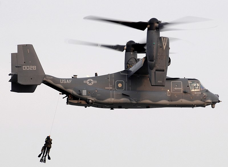 File:US Navy SEALs hoisted into AF CV-22.jpg