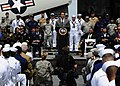 US Navy http-www.navy.mil-management-photodb-photos-100603-N-8607R-071 California Governor Arnold Schwarzenegger addresses veterans aboard the USS Midway Museum.jpg