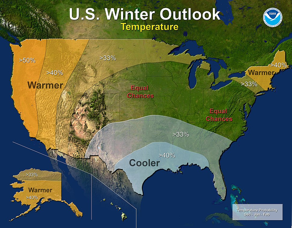 US temp outlook winter 2014–15 NOAA