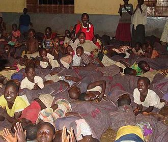 """Lord's Resistance Army insurgency - A room of child """"night commuters"""""""
