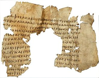Christ myth theory - A 3rd century fragment of Paul's letter to the Romans
