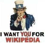 Uncle Sam I want you to edit Wikipedia english.JPG