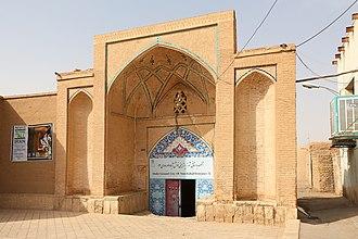 Nushabad - Entrance of the underground city