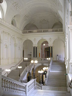 The grand staircase (Feststiege) in the main building