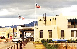 Border crossing at Naco