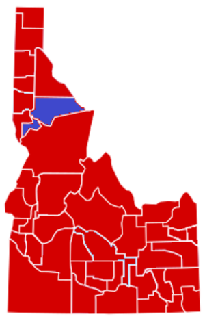 United States presidential election in Idaho, 1952 - Image: United States presidential election in Idaho County Results, 1952