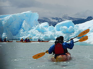 Kayak - Kayaking in the Upsala Glacier in Los Glaciares National Park