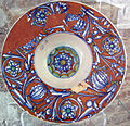 Urbino o pesaro, piattello a girali fiorite, 1480-1510 ca..JPG