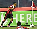 Urby Emanuelson (taking a Corner Kick) – A.C. Milan vs. Real Madrid 2012.jpg