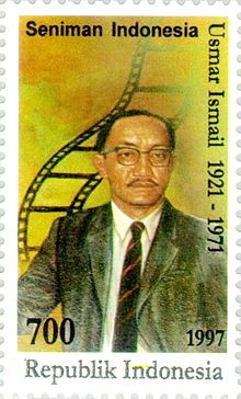 Description de l'image Usmar Ismail 1997 Indonesia stamp.jpg.