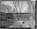 VIEW OF EAST SIDE OF BRIDGE - Gross Covered Bridge, Spanning Middle Creek, Route 574, Beaver Springs, Snyder County, PA HAER PA,55-BEAVS.V,1-6.tif