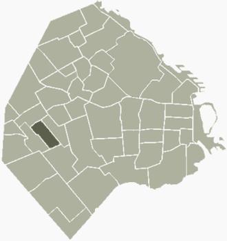 Vélez Sársfield (barrio) - Image: V Sarsfield Buenos Aires map