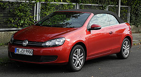 VW Golf Cabriolet (VI) – Frontansicht, 10. September 2011, Hilden.jpg
