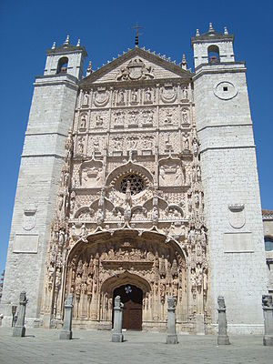 Valladolid debate - Church of San Pablo, adjacent to Colegio de San Gregorio.