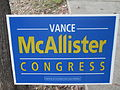 Vance McAllister campaign poster, 2013 IMG 8364.JPG