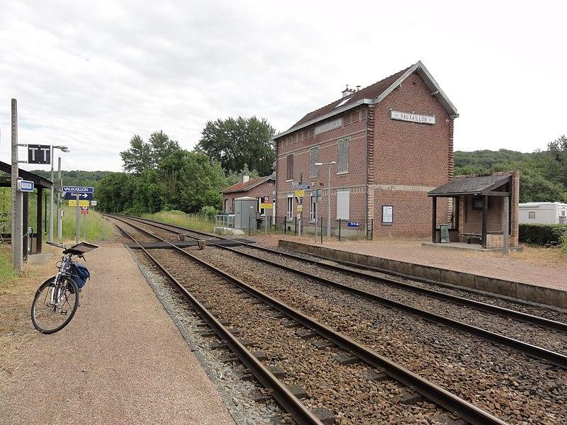 Vauxaillon (Aisne) la gare