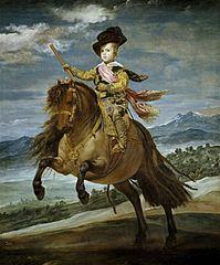 Le Prince Baltasar Carlos à cheval