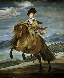 VELÁZQUEZ Prince Baltasar Carlos on horseback1635-36