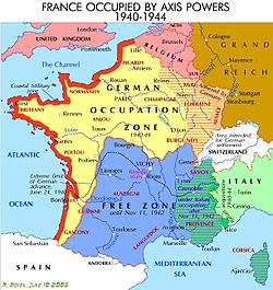 Карта на вишиска франция 1940 1944