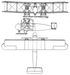 Vickers Vimy Commercial 3-view Les Ailes May 18,1922.png