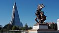 Victorious Fatherland Liberation War Museum and Ryugyong Hotel (11342673725).jpg