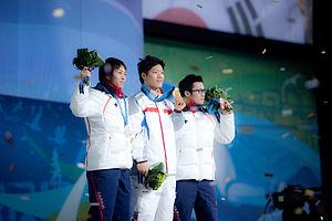 Speed skating at the 2010 Winter Olympics – Men's 500 metres - Keiichiro Nagashima, Mo Tae-bum, Joji Kato