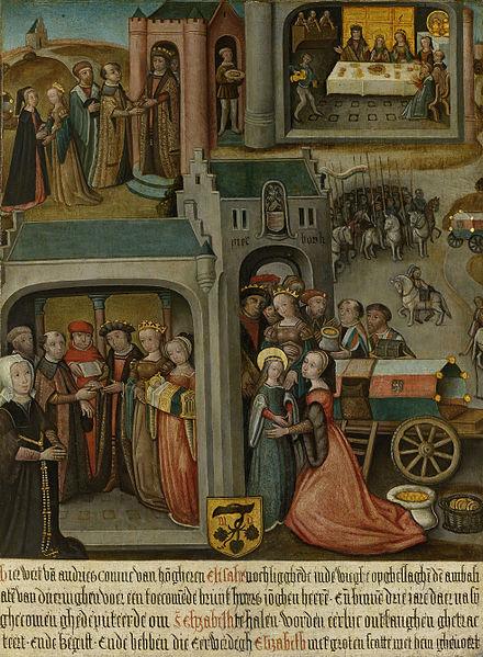 File:Vier taferelen uit de legende van de heilige Elisabeth van Hongarije Rijksmuseum SK-A-2237.jpeg