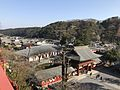 View from Honden of Yutoku Inari Shrine (Romon and Sanshuden).jpg