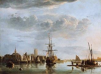 Dordrecht - View of Dordrecht, by Aelbert Cuyp.