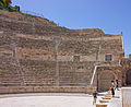 View of Roman theater in Amman from stage.jpg
