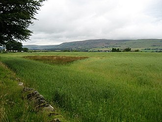 Auchendavy - View of the Campsie Fells from near Auchendavy Fort