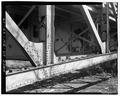 View southwest, span no. 1, truss - Wabash River Bridge, Spanning Wabash River at U.S. Highway 40, Terre Haute, Vigo County, IN HAER IN-64-19.tif
