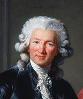 The Vicomte de Calonne is shown wearing a powdered wig  the powder that has  fallen from the wig is ... 50c5bb551