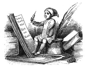 English: nisse writing