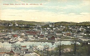 St. Johnsbury, Vermont - Bird's-eye view c. 1910
